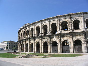 Arena of Nîmes, the Roman amphitheater in Nîme...