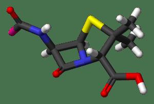 Penicillin-nucleus-3D-sticks