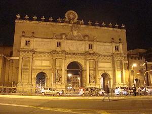 Porta del Popolo or Porta Flaminia in Rome