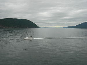 Rosario Strait, San Juan Islands, Washington, ...
