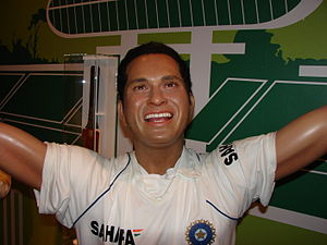 English: Sachin Ramesh Tendulkar Wax Statue in...