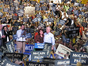 The GOP ticket, John McCain and running mate S...