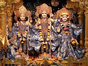 English: Deities of Sri Sri Sita-Rama, Lakshma...
