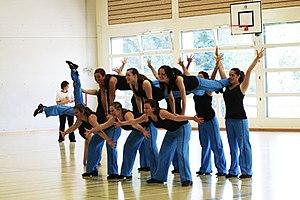 Deutsch: Team Aerobic Gruppe Akrobatik