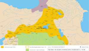 The Kingdom of Urartu during the time of Sardu...