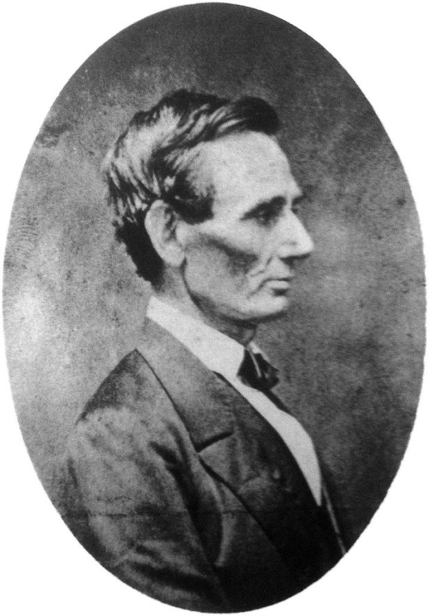 Abraham Lincoln profile by unknown author summer 1860