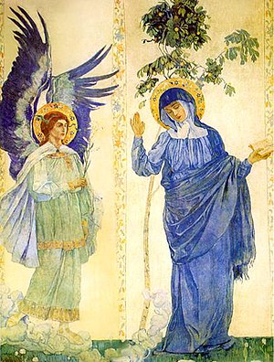 Annunciation/ Архангел Гавриил и Дева Мария