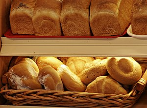 Breads and Bread rolls at a bakery