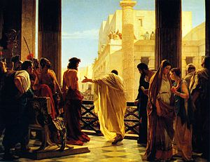 Antonio Ciseri's depiction of Pontius Pilate p...