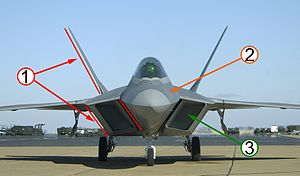 F-22 stealth features.