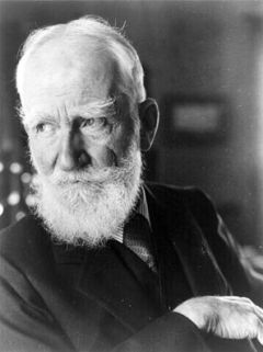 George Bernard Shaw, Irish playwright.