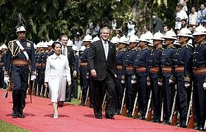 President George W. Bush and Philippine presid...