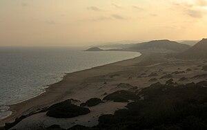 Golden beach at sunset, Karpass Peninsula