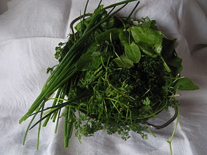English: Herbs for Grüne Sauce/Green Sauce - a...