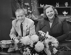 Photo of Kate Smith and Ted Collins from the t...