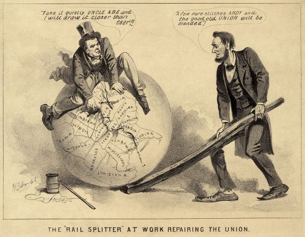 Lincoln Reconstruction Political Cartoon
