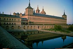 """A distant view of """"El Real Monasterio de El Escorial"""""""