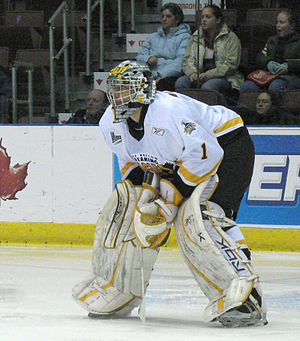 Ondřej Pavelec playing for the 2006-2007 Cape ...