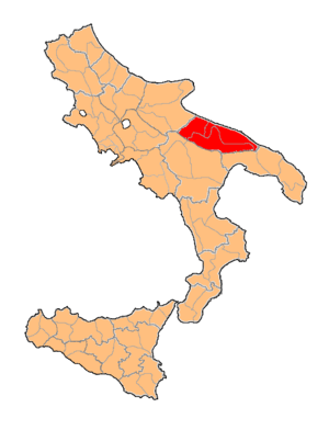English: Department of Terra di Bari, of Kingd...