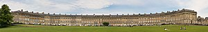 The Royal Crescent in Bath, England. This is a...