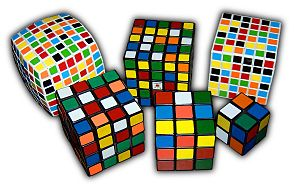 English: Rubik's Cube variants from 2×2×2 all ...