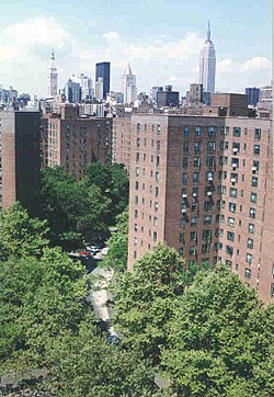 View Of Central Manhattan From Stuyvesant Town
