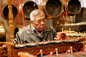 Traditional indonesian instrument being played...