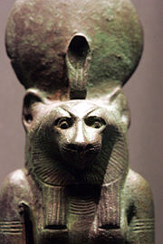 Bastet the ancient Egyptian solar and war goddess.
