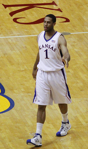 Xavier Henry of the Kansas Jayhawks basketball...