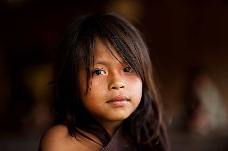 File:Young Ashaninka girl in an Apiwtxa village, Acre state, Brazil.jpg
