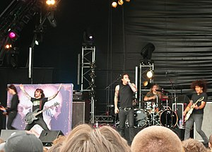 As I Lay Dying performing at the Hellfest Summ...