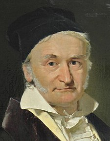Johann Carl Friedrich Gauss (1777–1855), painted by Christian Albrecht Jensen