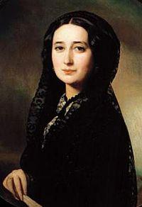 Carolina Coronado en un retrato de 1850.