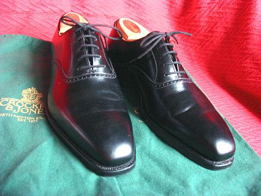Crockett & Jones men's dress shoes, type Dalton, black calf leather 01