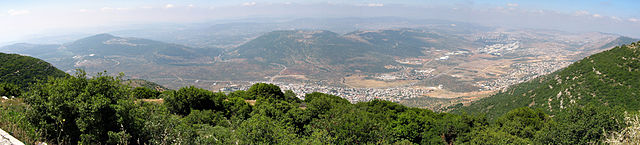 Panorama from Har Ari in the Galilee looking s...