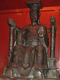 Tượng Lý Thánh Tông tại Văn miếu-Quốc tử giám