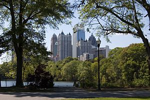 Midtown from Piedmont Park.