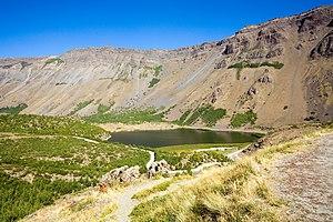 Lake Nemrut inside the crater of Nemrut Volcano