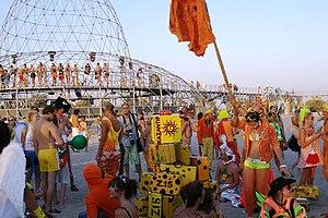 People at the KaZantip festival in 2007.