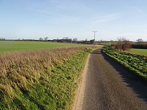 English: Road to Hindringham It's a typical co...
