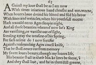 Sonnet 63 Wikipedia