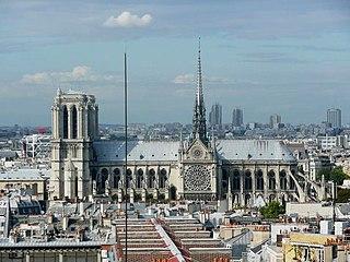 File South Facade Of Notre Dame De Paris 14 August 2008