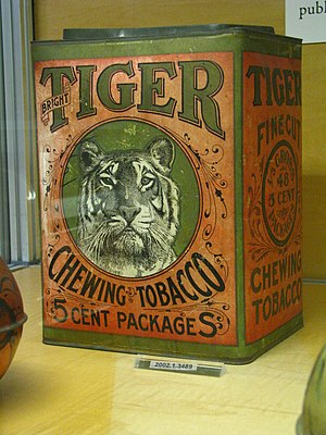 WLA nyhistorical Tobacco tin Bright Tiger Chew...