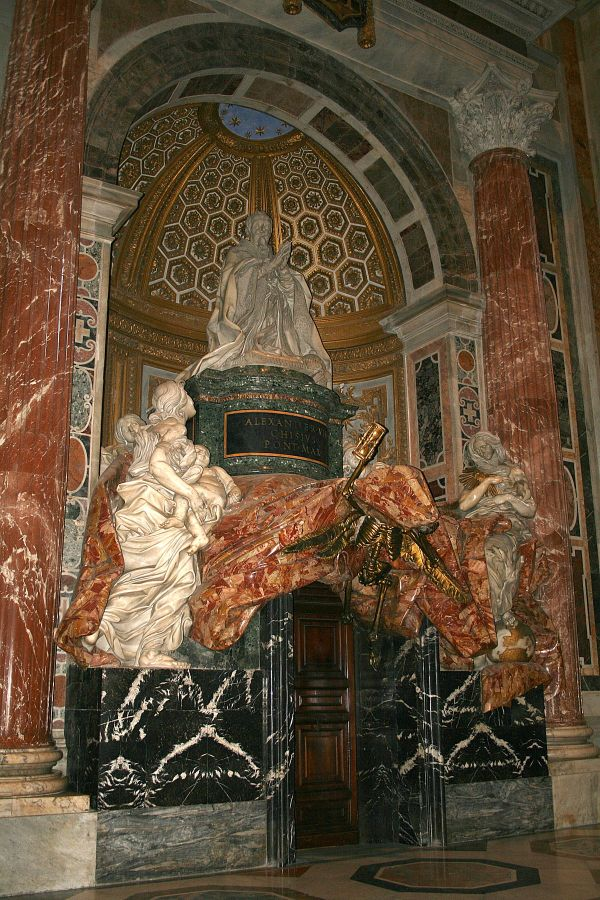 Tomb Of Pope Alexander Vii - Wikipedia