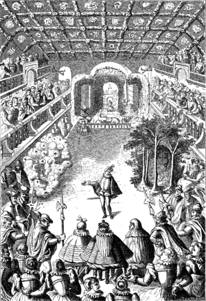 Engraving of the second scene of the Ballet Co...