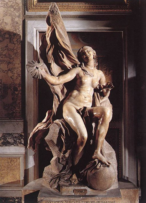 """""""Truth Unveiled by Time"""" by Bernini"""
