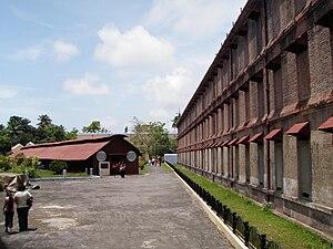 English: The Andaman Cellular Jail was the sha...