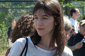 Charlotte Gainsbourg at the inauguration of the Jardin Serge Gainsbourg in Paris