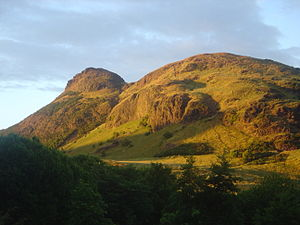 Arthur's Seat on a summer evening