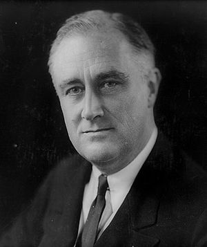 Franklin Delano Roosevelt in 1933